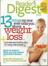 Reader's Digest January 2009 13 Things About Weight Loss/Renew American Dream