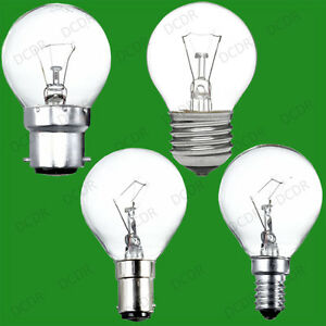 10x Clear Golf Round Dimmable Standard Light Bulb 25W 40W 60W BC ES SBC SES Lamp