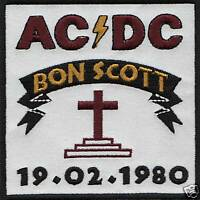 ACDC BON SCOTT TRIBUTE RARE IRON ON buy 2 We send 3