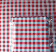 Cath Kidston  Fabric Material 50 X 50cms Blue Check FQ Patchwork Quilting Sewing