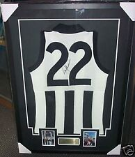 COLLINGWOOD TONY SHAW SIGNED AND FRAMED JUMPER - COA