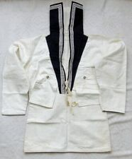 More details for royal navy sailor seaman jumper top collar pockets old vintage size 16
