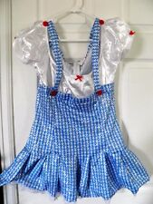 Woman's Wizard Of Oz Dorothy Costume Small 4-6  Dress Sexy Shiny Role Play FAST