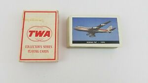1970 TWA Airlines BOEING 747 Playing Cards Collectors Series Vintage USA Rare U1