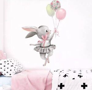 🌸Wandtattoo|Kinder-Babyzimmer|Hase|Bunny|Schaukel|Wandsticker|Mädchen|Junge|Neu