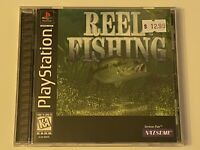 🔥 REEL FISHING 🔥 PS1 PlayStation 1 PSX GAME 💯COMPLETE MINT 🔥 BLACK LABEL