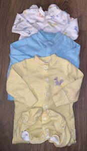 Girls Age 0-3 Months - X3 John Lewis Sleepsuits