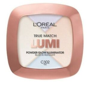 L'Oreal Paris True Match Lumi Powder Glow Illuminator, Ice [C302] 0.31 oz