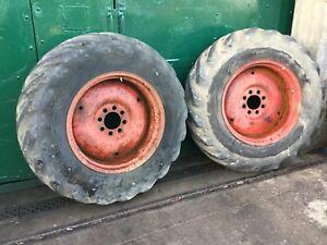 16.9/14 - 28 Rear Digger Tyres/Rims - Ford 455/550/555 - NVC661C