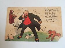 Vintage Comic Postcard Signed Tom B. from Originals by Tom Browne  §B500