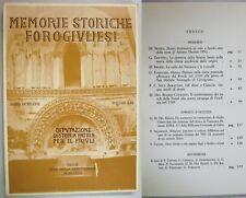 MEMORIE STORICHE FOROGIULIESI 1981 Friuli Azzano Decimo Cervignano Chiavris