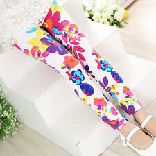 Kids Girl Baby Long Leggings Flower Floral Print Pants Casual Party Trousers New