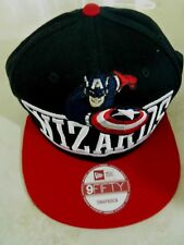 9 FIFTY NEW ERA SNAPBACK MARVEL WIZARDS CAP/HAT BLACK & RED RAISED EMBROIDERED!
