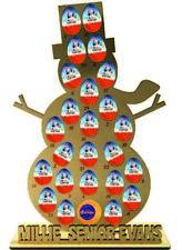 Muñeco de Nieve Personalizado Calendario de Adviento Kinder Huevo Terrys Chocolate Naranja