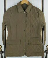 BARBOUR ENGLAND Size 10 US Large Womens Sage Green Quilted Field Jacket Coat