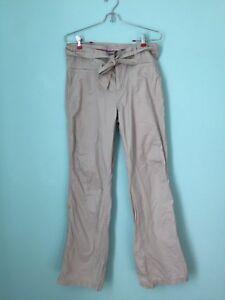Columbia Sportswear women's size 12 convertible hiking pants / roll up stone bel