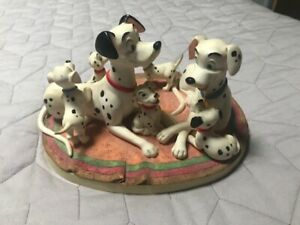 Vintage Disney Animated Classic - 101 Dalmatians Porcelain Figurine - Retired