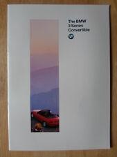 BMW 3 SERIES CONVERTIBLE 1994 1995 UK Mkt Sales Brochure Prospekt - E36 325i