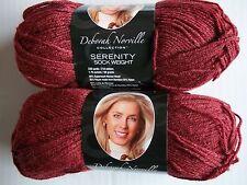 Premier Serenity wool/bamboo sock yarn, Burgundy, lot of 2 (230 yds each)