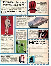 1968 VILEM B HAAN / INTERNATIONAL MOTORING ACCESSORIES - ORIGINAL PRINT AD