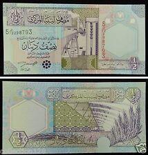 Libya Paper Money 1/2 Dinar 2002 UNC
