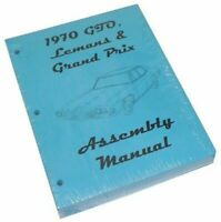 1970 Pontiac GTO Lemans Judge Factory Assembly Manual Book High Res