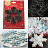9Pcs Xmas Snowflake Biscuit Cookies Cutter Pastry Cake Decorating Baking Mould