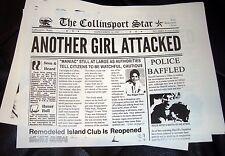 DARK SHADOWS prop Vintage Horror Newspaper Barnabas Collins Vampire Soap Opera