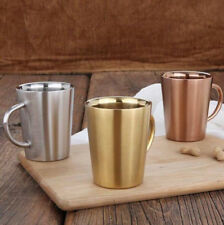 Simple Fashion Stainless Steel Insulated Double Walled Coffee Cup w/Handle