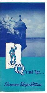 AJ-176 Don Q Puerto Rican Rum Recipe Leaflet Blue 8-pages vintage