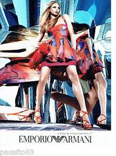 PUBLICITE ADVERTISING 026  2010  Emporio Armani haute couture chaussures sac