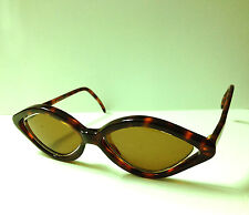 Vintage J.C. de CastelBajac France made Gemini Woman's Fashion Sunglasses Brown