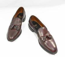 Allen Edmond Grayson Burgundy Leather Loafer Tassel Shoes 10.5C US, 44 EU, 10 UK