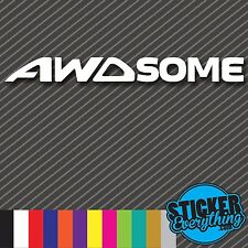 AWDSOME VINYL DECAL STICKER Fits WRX EVO SUBARU STI FORESTER AWD ALL FOURS RALLY