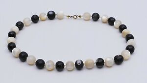 alte PERLMUTT Kette Antique old natural Balamuti Mother Of Pearl Necklace Rosary