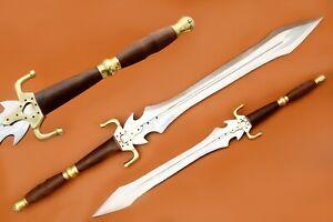 Custom Hand Made Stainless Steel  Blade Natural wood Handle Hunting Sword,