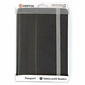 Griffin Passport Case Cover for Small/Medium Tablets/E-Readers - Black NEW