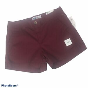 OLD NAVY Women's Everyday Shorts Size 6 Maroon Color Stretch Pockets Mid-Rise