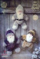 King Cole Grueso christmastoy Tejer patrón Santa pequeñas medianas, grandes 9031