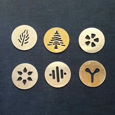 "Set of (6) 2"" Inch Spritz Cookie Press Gun Replacement Discs Christmas Design"