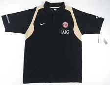 MANCHESTER UNITED NIKE SHORT SLEEVE BLACK POLO SHIRT SOCCER FUTBOL NEW NWT XL