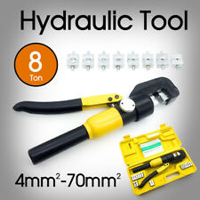 New 8 Ton Hydraulic Crimper Cable Wire Force Tool Kit 9 Die 4mm-70mm AU Stock