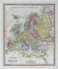 1812 Darton Union Atlas Map Europe Spain Italy Germany Austria France Britain
