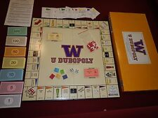 Vintage 1991 University of Washington Monopoly W U Dubopoly Board Game 2nd Ed