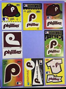 Vintage 1980's PHILADELPHIA PHILLIES Fleer Baseball Sticker Lot of 8 Different