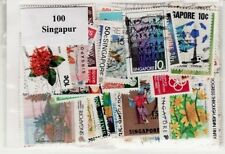 100 SELLOS SINGAPUR DIFERENTES