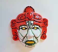 "Ceramic Mask Wall Plaque - Glaze Finish - Marked *G F* - 6 3/4"" L (ES 2)"