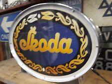 Skoda, 973,110,720,1100,F3, rapide, vintage, MANCAVE, Lightup signe, Garage, atelier, VW