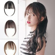 Bangs short clip in hair extensions ebay air hairpiece with fringe false thin bang clip in front synthetic hair extension pmusecretfo Image collections