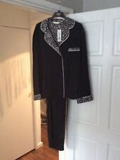 M&S Ladies Black Satin Pyjamas Size 20 BNWT